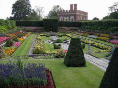 Beautiful garden at Hampton Court Palace