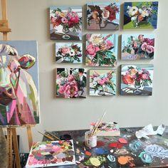 Kate Mullin's Studio. Oil Paintings. Colorful www.katemullinart.com