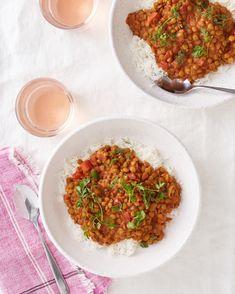 Slow Cooker Coconut Lentil Curry | Kitchn Slow Cooker Lentil Curry, Vegetable Slow Cooker, Slow Cooker Lentils, Slow Cooker Soup, Slow Cooker Recipes, Crockpot Recipes, Dump Recipes, Healthy Recipes, Barbecue Recipes
