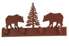 24 Inch L Bear On The Loose 4 Hooks Coat Rack - 24 Inch L Bear On The Loose 4 Hooks Coat Rack Theme: RUSTIC LODGE Product Family: Bear on the Loose Product Type: NOVELTY LAMPS AND ACCESSORIES Product Application: WALL SCONCES Color: RUST Bulb Type: Bulb Quantity: Bulb Wattage: Product Dimensions: 12H x 24L x W x 3DPackage Dimensions: NABoxed Weight: 3 lbsDim Weight: 43 lbsOversized Shipping Reference: NAIMPORTANT NOTE: Every Meyda Tiffany item is a unique handcrafted work of art. Natural…