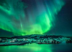 Northern Lights over this Iceberg Lagoon in Iceland #ExtremeIceland #Extreme #Iceland