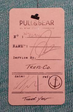 Pull&Bear #hangtag Tag Design, Custom Design, Graphic Design, Bag Patches, Brand Strategist, Swing Tags, Clothing Tags, Branding Agency, Denim Branding