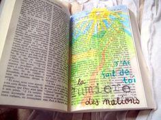 Superbe blog sur le bible journaling Français: Illustrer la foi !