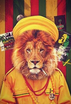 by myhoneyissweeter Rasta Tattoo, Bob Marley Painting, Iron Lion Zion, Rastafari Art, Rastafarian Culture, Ps Wallpaper, Weed, Rasta Lion, Reggae Style
