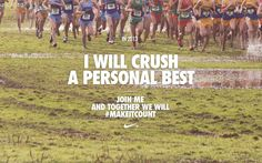 The Best Nike Motivation Posters - Motivate Yourself, Just Do It - Fit Girl's Diary I Love To Run, Run Like A Girl, Just Run, Just Do It, Cross Country Quotes, Cross Country Running, Nike Quotes, Sport Quotes, Running Workouts