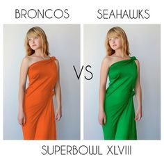 What color are you wearing today? #superbowlfashion