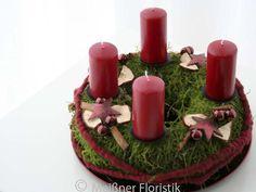 """Adventskranz - Adventskranz """"klassisch moderner Advent 1"""" - ein Designerstück von Meissner-Floristik bei DaWanda"""