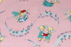 Hey, I found this really awesome Etsy listing at https://www.etsy.com/jp/listing/195469247/vintage-pink-nursery-fabric-antique-baby