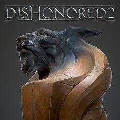 Lion Wood Statue, Yannick Gombart on ArtStation at https://www.artstation.com/artwork/nL8B1