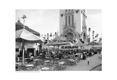 Café and Outdoor Vaudeville, Dreamland, Coney Island, 1905 Unknown Fine Art Print Poster