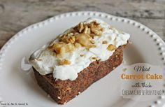Moist Carrot Cake with Thick Cream Cheese Frosting!