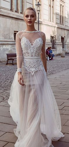 "#sheerbackweddingdress ""Sincerity"" by Miriams Bride Atelier"