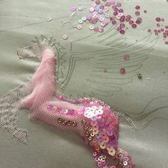 38 Ideas Embroidery Designs Fashion Embellishments Sequins For 2019 Tambour Beading, Tambour Embroidery, Couture Embroidery, Bead Embroidery Jewelry, Hand Embroidery Patterns, Ribbon Embroidery, Beaded Embroidery, Sewing Patterns, Couture Embellishment