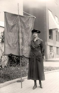 Woman Protester/ Here we present a beautiful photo of Woman Protester; It was made in 1918 by Harris & Ewing. The illustration illustrates United States.