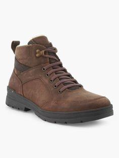 feaee4d8a77 Boots unies fourrées en cuir Marron Les premiers frimas n atteignent pas  nos pieds grâce
