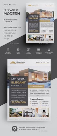 Real Estate Flyer - Envato Market You are in the right place about Buying real estate Here we offer you the most beautiful pictures about the Buy Real Estate Ads, Real Estate Branding, Real Estate Flyers, Commercial Real Estate, Real Estate Marketing, Real Estate Advertising, Luxury Branding, Flyer Design Inspiration, Real Estate Flyer Template
