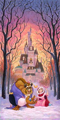 Tim Rogerson – There's Something Sweet – Beauty and the Beast - Rolled Canvas