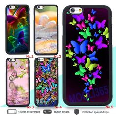 Colorful Butterfly Silicone Case for iPhone 4 5S 6 6S Plus 7 and Samsung Galaxy #UnbrandedGeneric