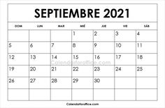Imprimir Calendario 2021 Septiembre 2021 Calendar, Blank Calendar, Free Printable Calendar, Periodic Table, Templates, Writing, Iphone, Printable, September
