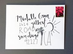 Personalized Beautiful Handwritten Return Address Envelopes For