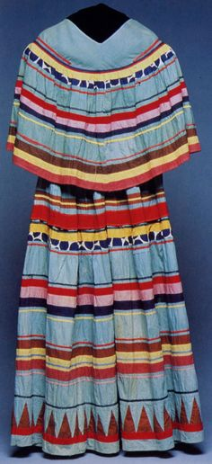 c1920s- Seminole Indian woman's traditional dress.