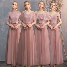 lace bridesmaids Chic / Beautiful Pearl Pink Lace Bridesmaid Dresses 2019 A-Line / Princess Bow Sash Floor-Length / Long Ruffle Backless Wedding Party Dresses Pink Bridesmaid Dresses, Lace Bridesmaid Dresses, Wedding Party Dresses, Dressy Casual Wedding, Sewing Dresses For Women, Hijab Dress Party, Frack, Mermaid Evening Dresses, Backless Wedding