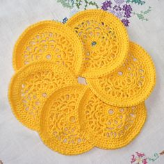 Designer Clothes, Shoes & Bags for Women Yellow Home Accessories, Yellow Home Decor, Crochet Earrings, Kitchens, Easter, Orange, Dark, Polyvore, Design