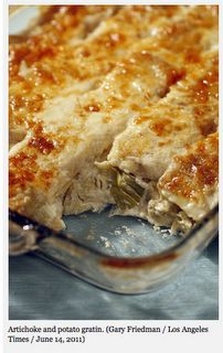 Jeremy's on the Hill artichoke and potato au gratin From a post by Noelle Carter Los Angeles Times