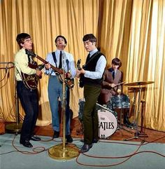 The Beatles - b&w colorized photo