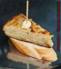 Basque Pinchos: Tortilla on Bread by Tapas Bonitas.