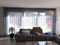 Voile Salina de chez Création Baumann, barre Interstil W 2 en acier Inox Stores, Curtains, Home Decor, Veil, Blinds, Decoration Home, Room Decor, Draping, Tents