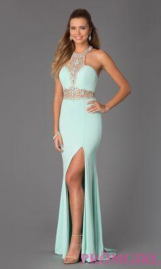 Image of Beaded Halter Prom Gown JVN Jovani 20530 Style: JO-JVN-JVN20530 Front Image