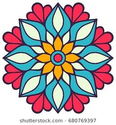 Find Flower Mandala Vintage Decorative Elements Oriental stock images in HD and millions of other royalty-free stock photos, illustrations and vectors in the Shutterstock collection. Mandala Art Lesson, Mandala Drawing, Mandala Painting, Dot Painting, Islamic Art Pattern, Pattern Art, Tile Art, Mosaic Art, Motif Arabesque