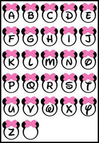 Free printable banner minnie minnie wall banner mickey for Party wall letter template