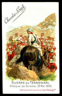 """Chocolate Louit """"The Transvaal War"""" Boer War) Attack on Senekal May 1900 Safari, Toy Soldiers, British Army, Egyptian, Empire, Africa, Cigarette Box, War, Chocolate"""