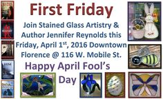 Our hours of operation for week: 3-28-16 through 4-2-16 are Monday & Tuesday 11-5, closed Wednesday & Thursday, Friday 11-9 for First Fridays, & closed Saturday. #stainedglass #hours
