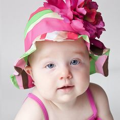 Fun and fashionable hats for baby girls.