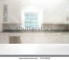Table Top And Blur Interior of Background - stock photo