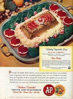 The Holiday Vegetable Loaf | 20 Truly Horrifying Vintage Holiday Recipes