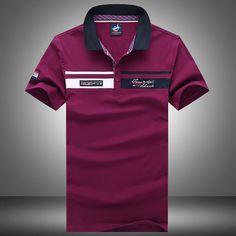 Free shipping Paul cotton t-shirt men t-shirt men's business casual striped short sleeved men t shirt Lapel shark men t shirt