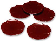 4.5寸銘々皿梅型両面春慶塗(5枚組) Silicone Molds, Plates, Dishes, Ideas, Licence Plates, Griddles, Tablewares, Dish, Thoughts