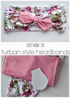 How to: Turban Style Bow Headbands carissamiss.com