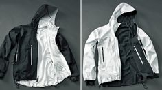 All-Season Jacket Turns Inside-Out To Keep You Warm Or Cool Oh man this is pretty pimping. Gotta remind myself to see if I can order one as soon as it's out. Nike Jacket, Rain Jacket, Outdoor Fashion, Autumn Inspiration, Sport Wear, Inside Out, Windbreaker, Street Wear, Jackets For Women