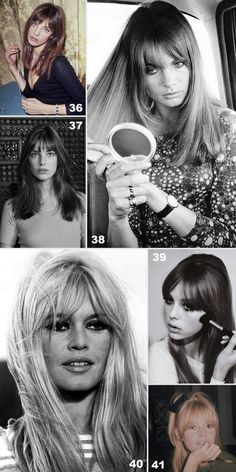 40 CABELOS COM FRANJA - Franjas icônicas: jane Birkin, Brigitte Bardot, Jean Shrimpton.