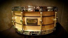 Tofy drum  Maple figured 14x 6.3x16 mm brass lug custom.