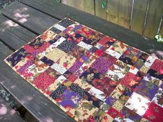Fall Autumn Table Runner Handmade Quilted by atthebrightspot, $52.00