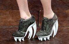 Iris Van Herpen claw high heels #rawr