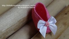 Sapatinhos Para Bebê - Life Baby: Passo a passo Sapatilha Princesinha em Crochê