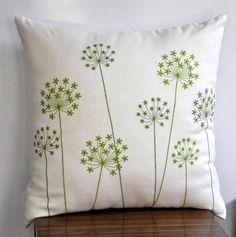 Queen Ann Throw Pillow Cover Cream Pillow Cover Fresh by KainKain