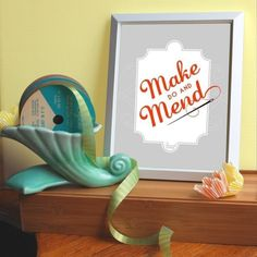 swanky make do and mend poster